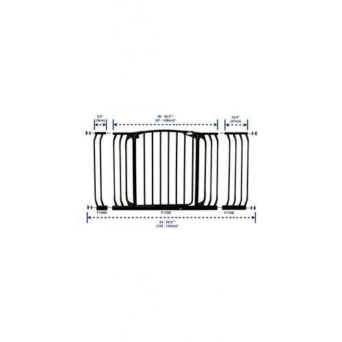Rozszerzenie bramki zabezpieczającej DREAMBABY PCR159B 9/75 cm Czarny