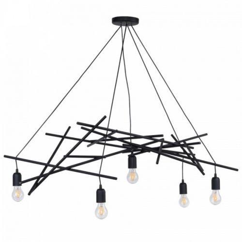 glenn lampa wisząca czarny 5xe27 -60w 9222504 marki Spot-light
