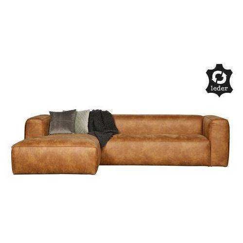 Sofa narożna lewa BEAN koniakowa - Woood