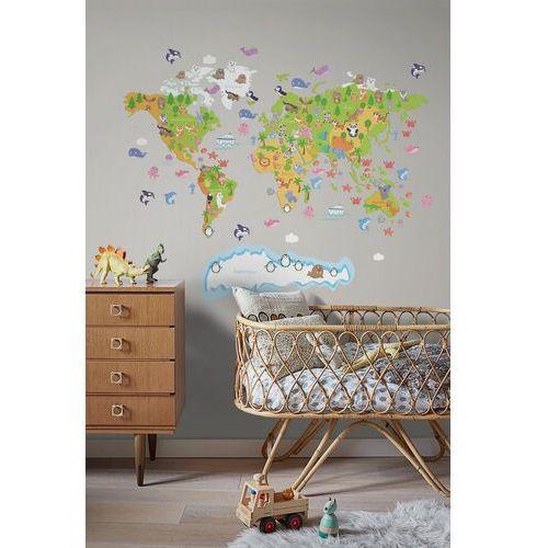 Coloray.pl Naklejki na ścianę mapa świata dla dzieci