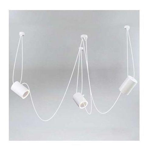 LAMPA wisząca DUBU 9027/E14/BI Shilo metalowa OPRAWA modernistyczny zwis tuby białe (1000000427561)