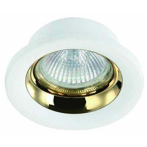 Orlicki design Wpust lampa sufitowa fodo gold metalowa oprawa oczko podtynkowe okrągłe białe złote