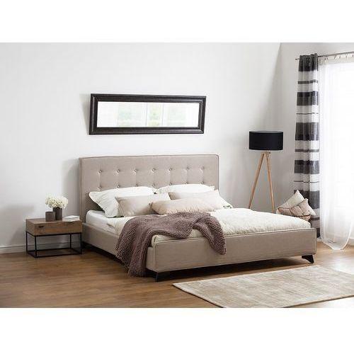 Nowoczesne łóżko tapicerowane ze stelażem 180x200 cm beżowe ambassador marki Beliani