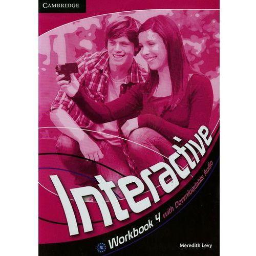 Interactive 4 Workbook (zeszyt ćwiczeń) with Downloadable Audio, książka w oprawie miękkej