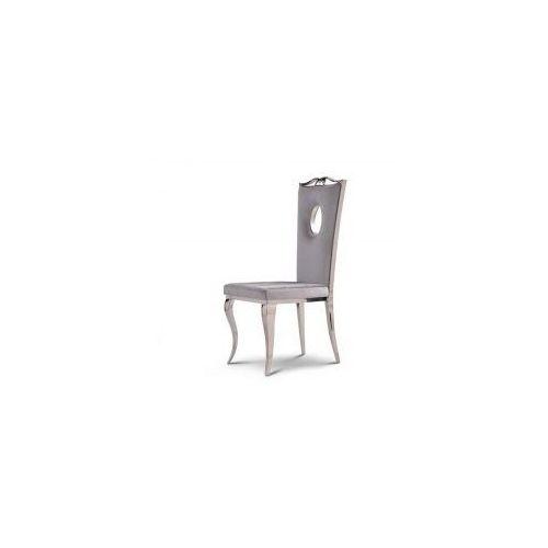 Bellacasa Krzesło glamour luxury silver - nowoczesne krzesło tapicerowane (5908273392677)