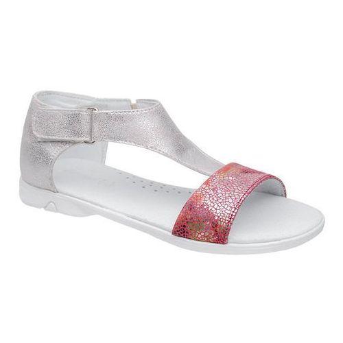 Kornecki Sandałki dla dziewczynki 4750 srebrne multi różowe - srebrny ||różowy ||multikolor