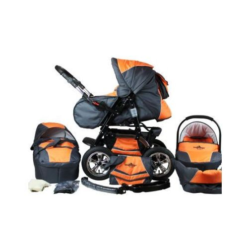 Bergsteiger  wózek spacerowy milano - zestaw orange & grey