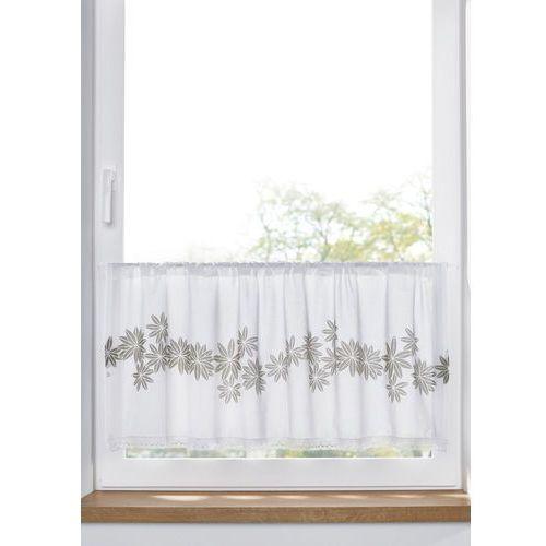 Zazdrostka z bawełny organicznej z nadrukiem w kwiaty biało-piaskowy marki Bonprix
