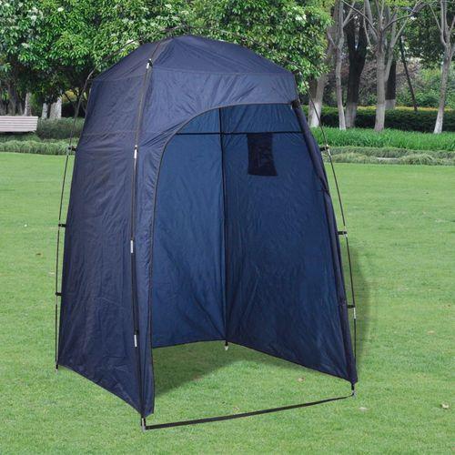 namiot prysznic/wc/przebieralnia, niebieski marki Vidaxl