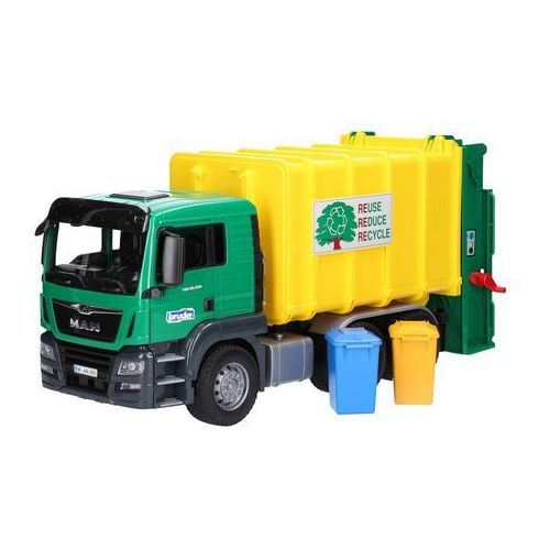 MAN TGS Śmieciarka z tylnym załadunkiem zielona Bruder 03764, BR03764