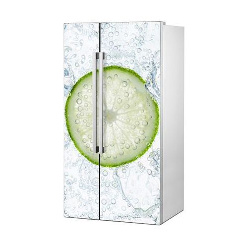 Mata magnetyczna na lodówkę side by side - plaster limonki w wodzie 4941 marki Stikero