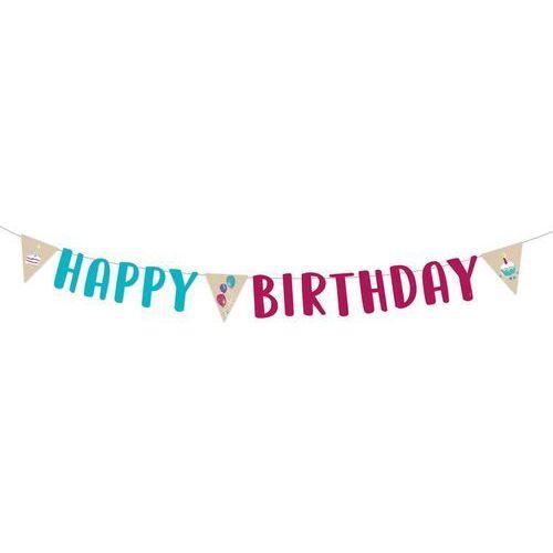 Amscan Baner urodzinowy happy birthday - 1 szt. (0192937017159)