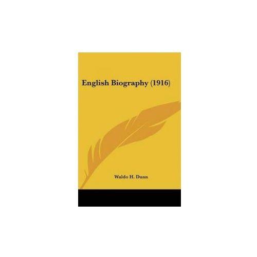 English Biography (1916) (9780548700044)