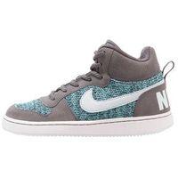 Nike Sportswear COURT BOROUGH MID SE (GS) Tenisówki i Trampki wysokie dark grey/glacier blue/polarized blue, kolor czarny