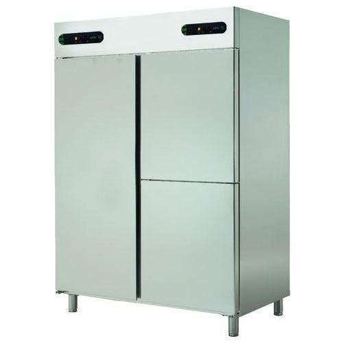 Asber Szafa chłodnicza 3-drzwiowa z oddzielnym sterowaniem temperatury, 2x700 l, 1388x826x2008 mm | , ecp-1403/2