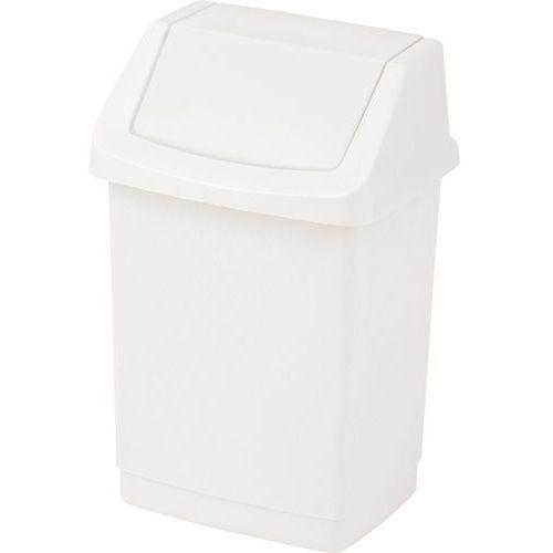 Merida Kosz na śmieci z uchylną pokrywą 50 litrów plastik biały (3253921721029)