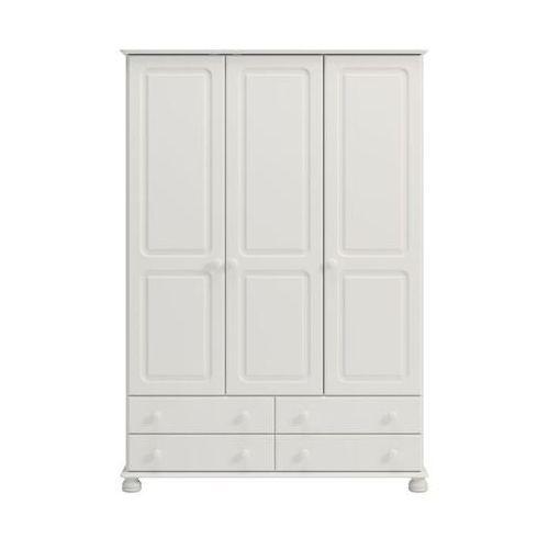 Biała romantyczna szafa 3 drzwiowa richmond marki Steens
