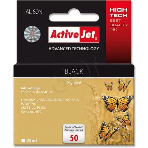 Tusz ActiveJet AL-50N Czarny do drukarki Lexmark - zamiennik Lexmark 50 17G0050