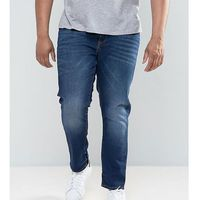 River island big and tall slim fit jeans in dark wash - blue