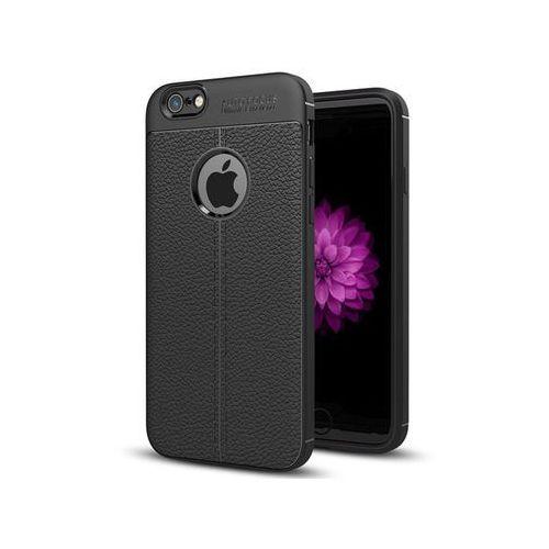 Etui pancerne leather case tpu - apple iphone 6 6s czarne marki Alogy