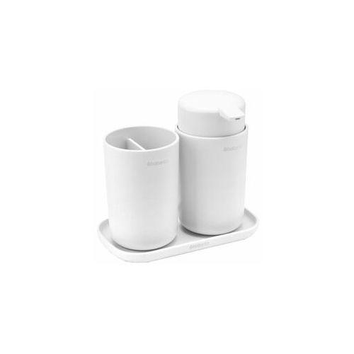 Brabantia - Zestaw akcesoriów łazienkowych - biały - biały