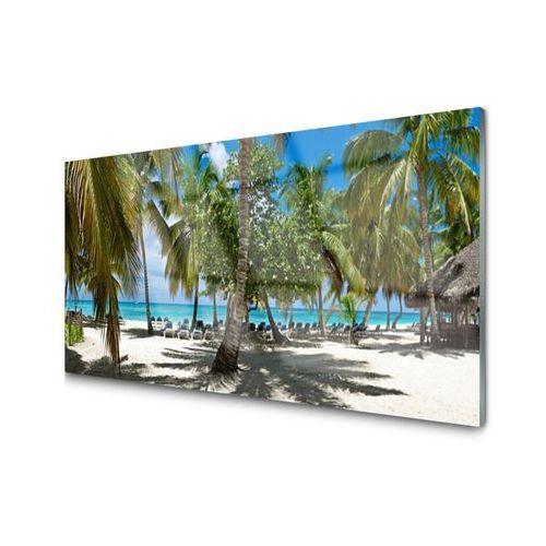 Tulup.pl Obraz akrylowy plaża palma drzewa krajobraz