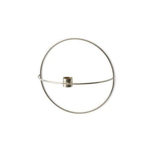 Świecznik POV Circle ścienny na świeczkę, S, srebrny - Menu, 4811049