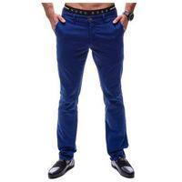 Spodnie chinosy męskie niebieskie denley 4326, Tmk