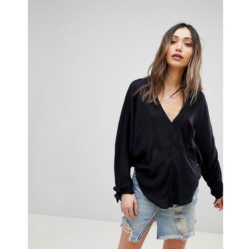 morning oversized long sleeved t-shirt - black marki Free people