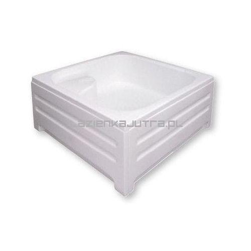 POLIMAT Brodzik kwadratowy 90x90x28x43cm, akrylowy 00148