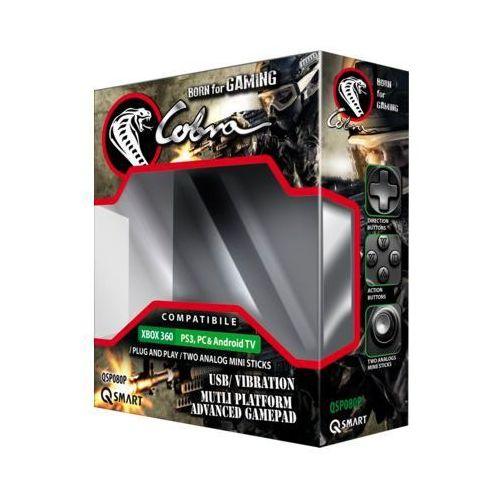 Kontroler Q-SMART QSP080P Przewodowy Czarny (Xbox 360/PS3/PC/Android) DARMOWY TRANSPORT (5905279174856)