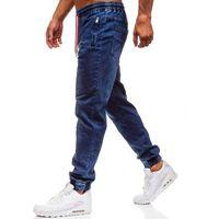 Spodnie jeansowe joggery męskie granatowe Denley Y265, jeans