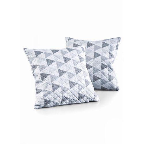 Narzuta na sofę w trójkąty szaro-biały marki Bonprix