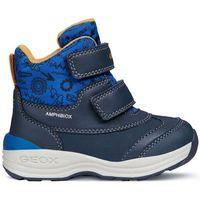 Geox buty zimowe za kostkę chłopięce new gulp 21 niebieski