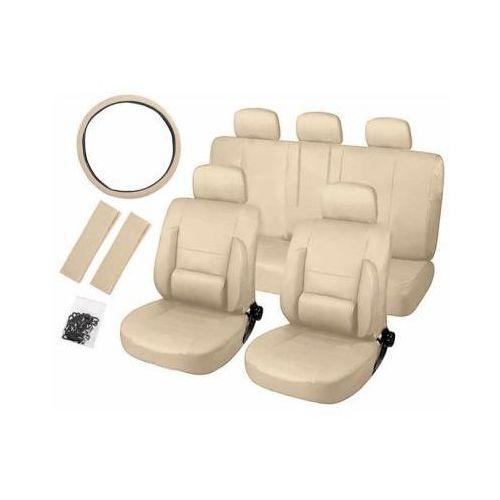 Zestaw ortopedycznych pokrowców samochodowych (eko-skóra) - beżowe. marki Cars accessories co.