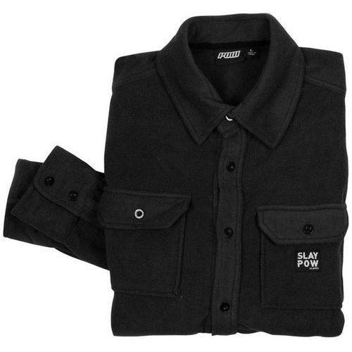 Pow - microfleece shirt- mens true black (bk) rozmiar: l