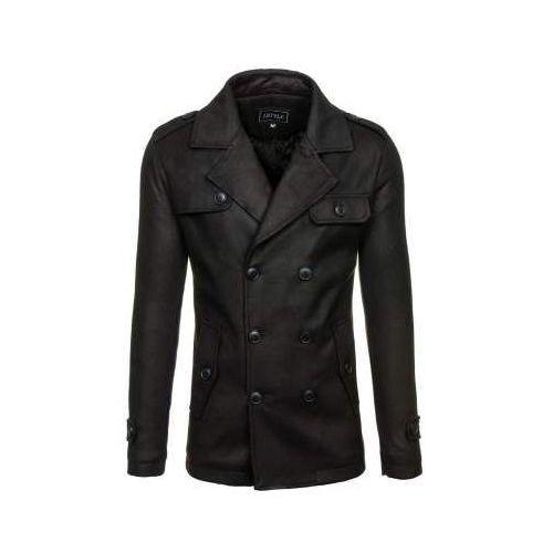 Płaszcz męski zimowy czarny Denley 3142, kolor czarny