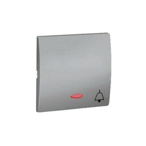 Klawisz pojedynczy z piktogramem dzwonka do podświetlenia classic aluminium marki Kontakt_simon