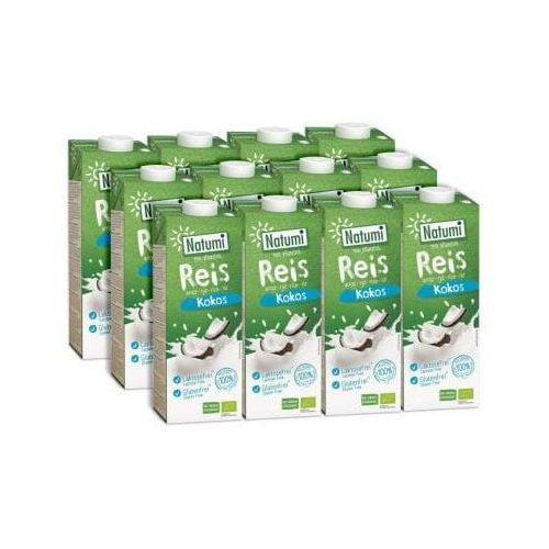 ZESTAW 12 szt - Napój ryżowo-kokosowy bezglutenowy BIO 12 x 1L - NATUMI