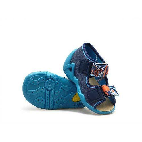 Sandałki dziecięce  250p048 granatowe marki Befado
