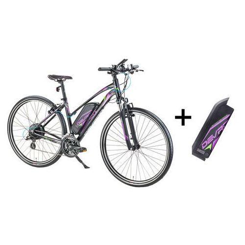"""Devron Damski crossowy rower elektryczny 28162 z zapasowym akumulatorem 14,5 ah - model 2017, szary, 19,5"""""""