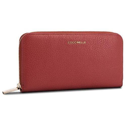 Coccinelle Duży portfel damski - cw5 metallic soft e2 cw5 11 04 01 bourgogne r00