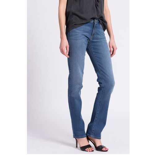 Wrangler - Jeansy Straight Misty Blue, jeansy