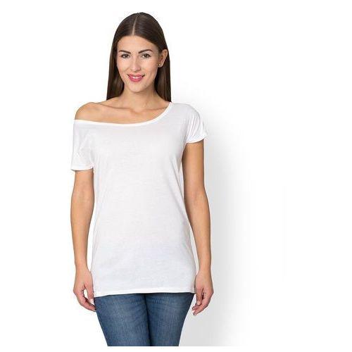 Damska koszulka oversize (bez nadruku, gładka) - biała, w 5 rozmiarach