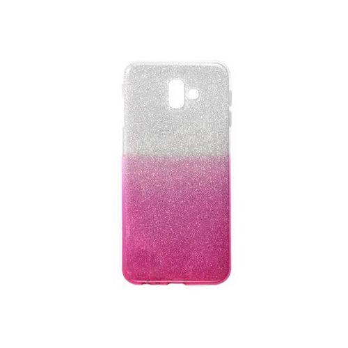 Samsung Galaxy J6 Plus - etui na telefon Forcell Shining - różowe ombre, kolor różowy