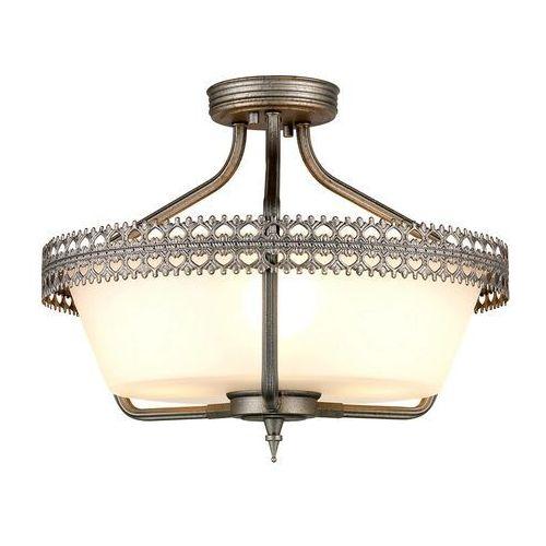 LAMPA sufitowa CROWN/SF Elstead rustykalna OPRAWA ampla żelazo biała, CROWN/SF
