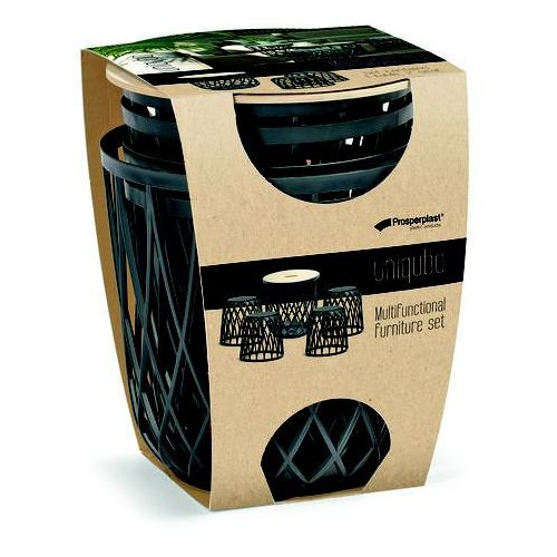 Zestaw mebli ogrodowych uniqubo set s433 antracytowy marki Prosperplast