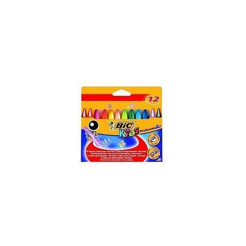 Kredki świecowe plastidecor triangle pudełko 12 kolorów marki Bic