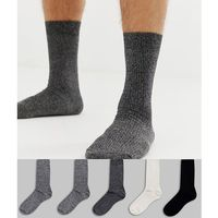 socks in mono 5 pack - multi marki New look