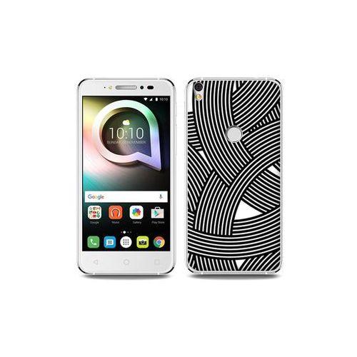 Alcatel shine lite - etui na telefon fantastic case - biało-czarna mozaika marki Etuo fantastic case